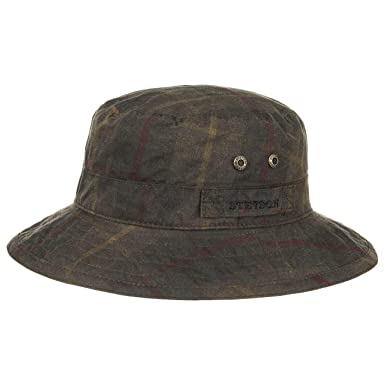 ffcaa85b Stetson Atkins Waxed Cotton Hat rain Sun: Amazon.co.uk: Clothing