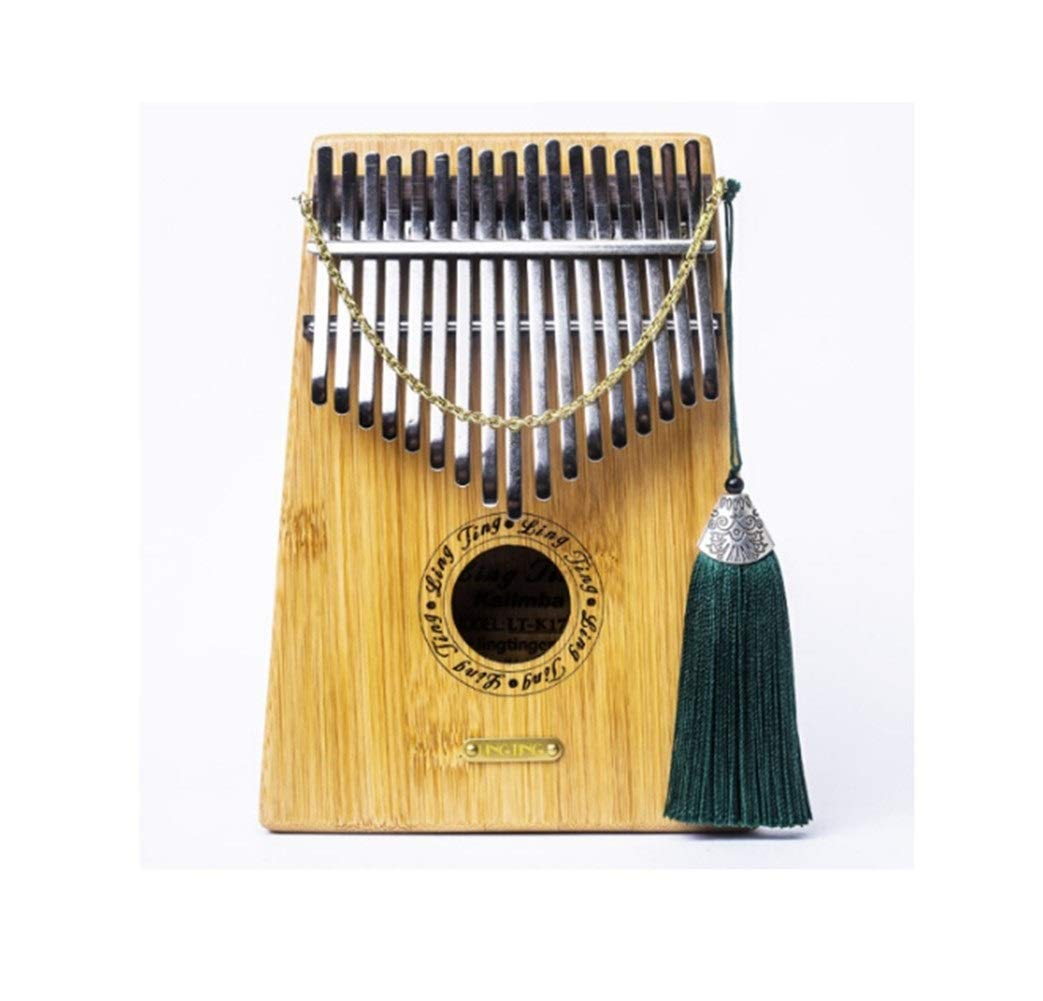 Qiyuezhuangshi Kalimbaqin, 17-tone Kalimba thumb piano, suitable for beginners to play beautiful gifts, (gifts; velvet bag + thumb piano + spectrum tuning hammer) Easy to use (Color : 1)