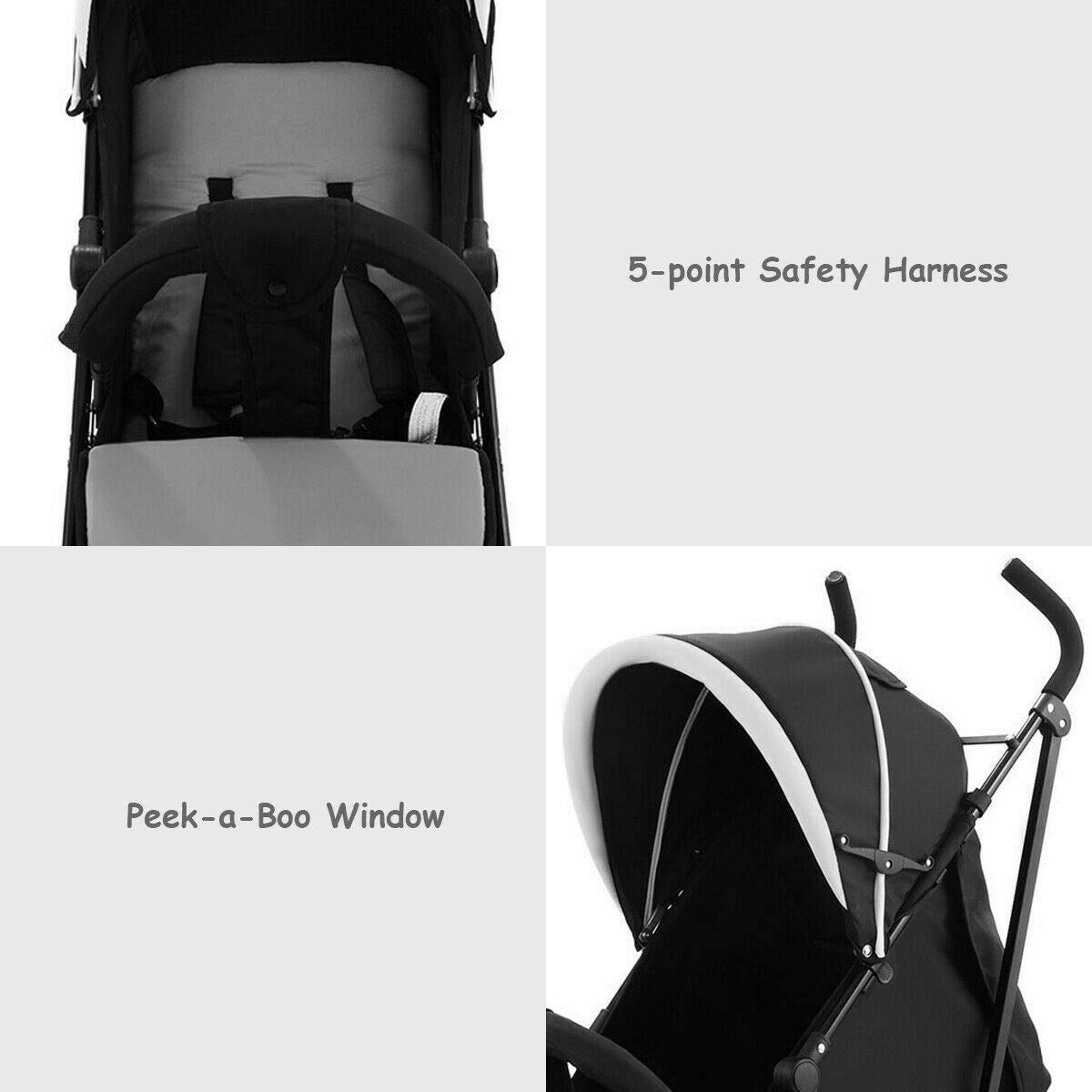 Kids Jogger Foldable Baby Stroller Buggy Travel Infant Pushchair Lightweight Eco-Friendly Material by Eosphorus BS (Image #7)