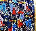 <Qキャラクター・キルティング生地>ドラゴンボール超(スーパー)(紺)#4(キルティング キルト キャラクター キルティング生地 布 入園 入学 ピロル)