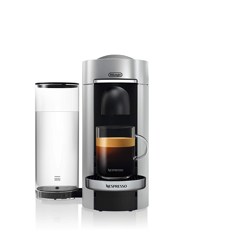 DeLonghi Nespresso Vertuo ENV 155.S - Cafetera (Independiente, Máquina de café en cápsulas, 1,7 L, Cápsula de café, 1260 W, Negro, Plata): Amazon.es: Hogar