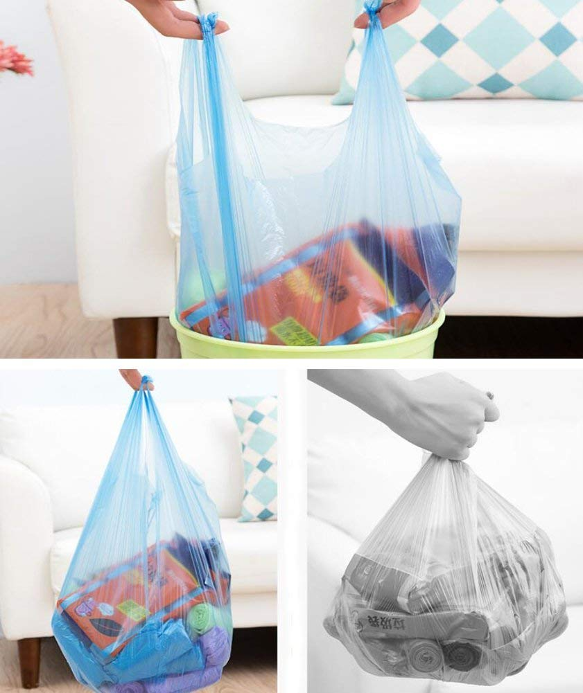 Trash Bags Adroitbear 5 Gallon Kitchen Trash Bags Strong Material Small Size 17.7 x 23.6 Inch for Office Home Waste Bin 150 Counts (Blue -1) by Adroitbear (Image #3)