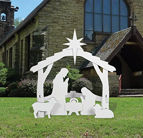 Front Yard Originals Outdoor Nativity Set Large - White - Holiday Du00e9cor - Patio And Furniture