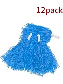 1 Dozen PUZINE Pack of 12 Cheerleading Plastic Pom Poms