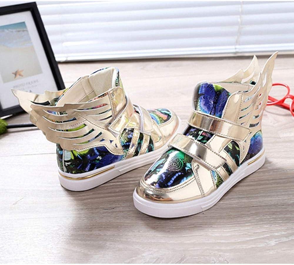 ROKIDS Kids High-Top Dazzling Wings Sneakers Printed Performance Shoes Boys Girls