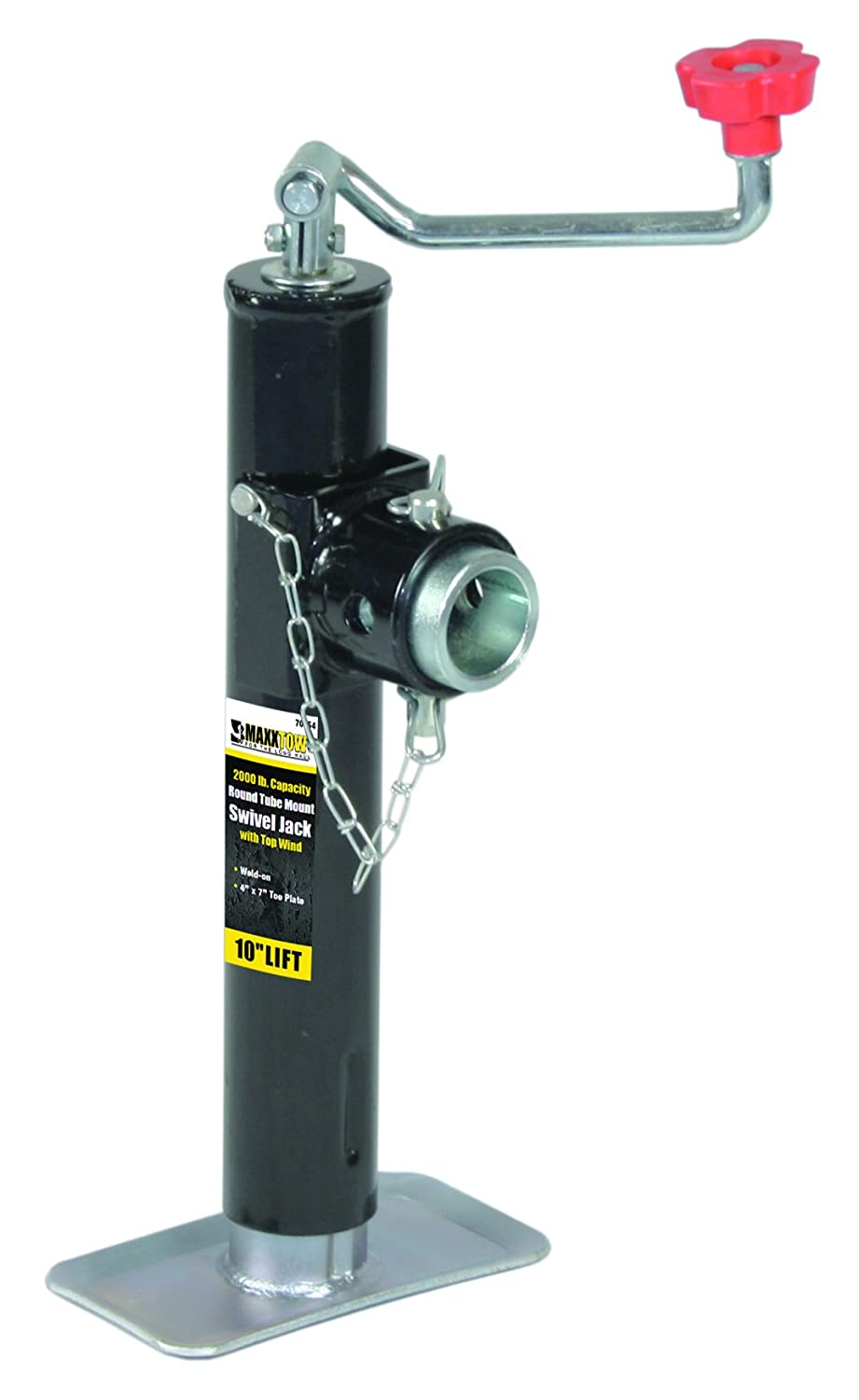 Capacity MaxxHaul  70155 15 Lift Ring Mount Trailer Jack with Top Wind 2000 lbs
