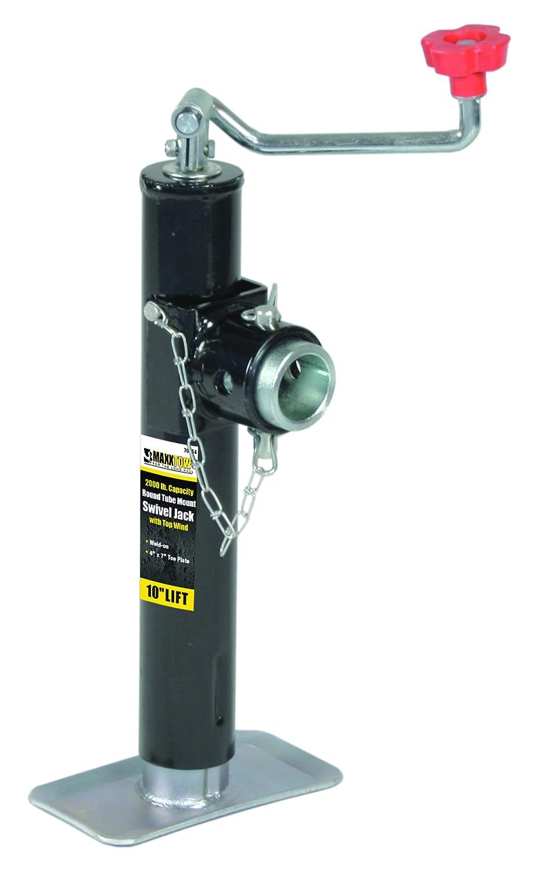 MaxxHaul 70150 Round Tube Weld On Swivel Jack - 2000 lb. Capacity Maxxtow Towing Products