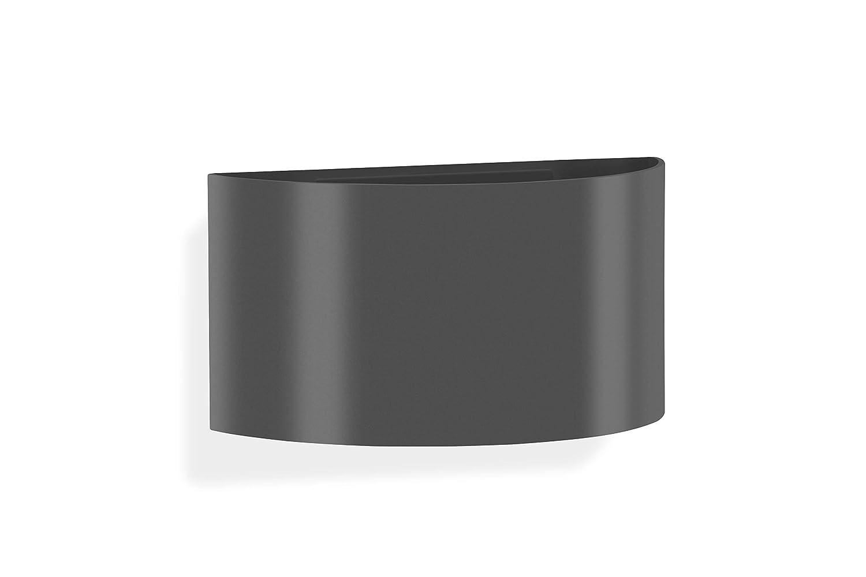 Telefunken – LED Außenwandleuchte, Außenwandlampe 7 Watt, 600 Lumen, Lichtfarbe  4.000 Kelvin neutral weiß, schwarz