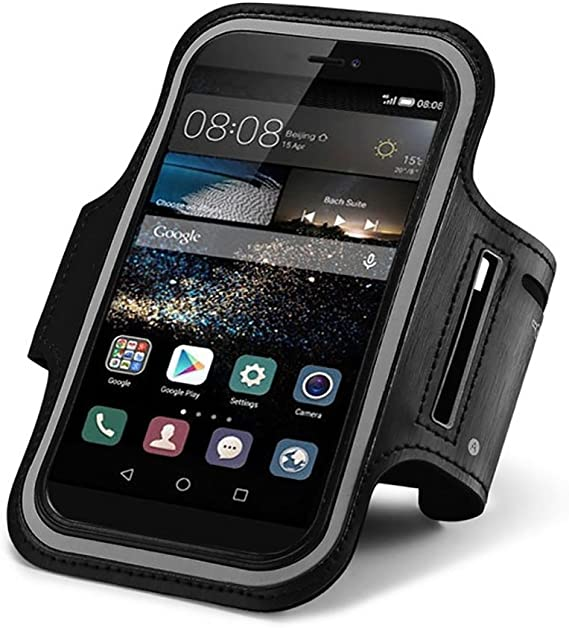 CoverKingz Huawei Y6 2019 color negro con bolsillo para llaves Brazalete deportivo para Huawei Y6