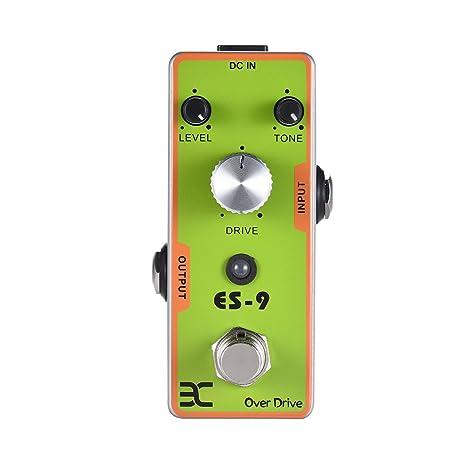ammoon ENO Guitarra electrica Pedal de efectos Overdrive Carcasa metálica completa True Bypass