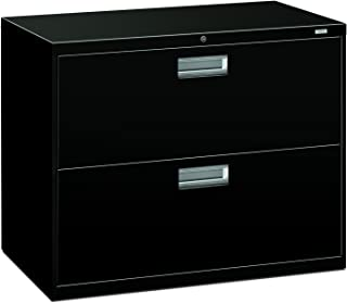 product image for HON 2-Drawer Filing Cabinet - 600 Series Lateral Legal or Letter File Cabinet, Black (H682)
