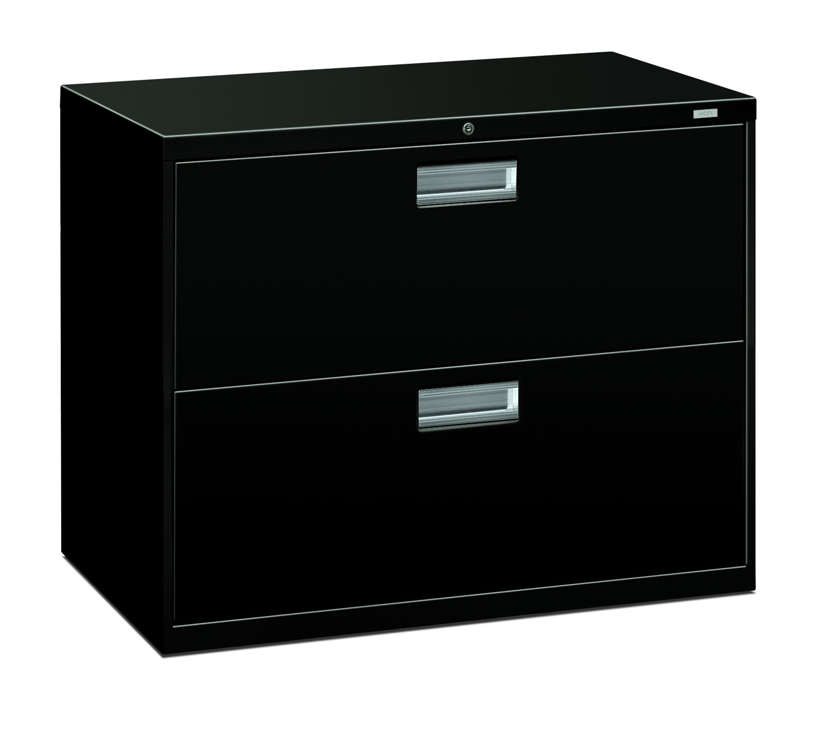 The HON Company H682.L.P HON682LP HON 2-Drawer Cabinet-600 Series Lateral Legal or Letter File Cabinet), 2-Drawer Black by HON