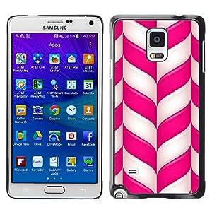 TopCaseStore / la caja del caucho duro de la cubierta de protección de la piel - Candy Cane Christmas Holidays Winter Mint - Samsung Galaxy Note 4 SM-N910