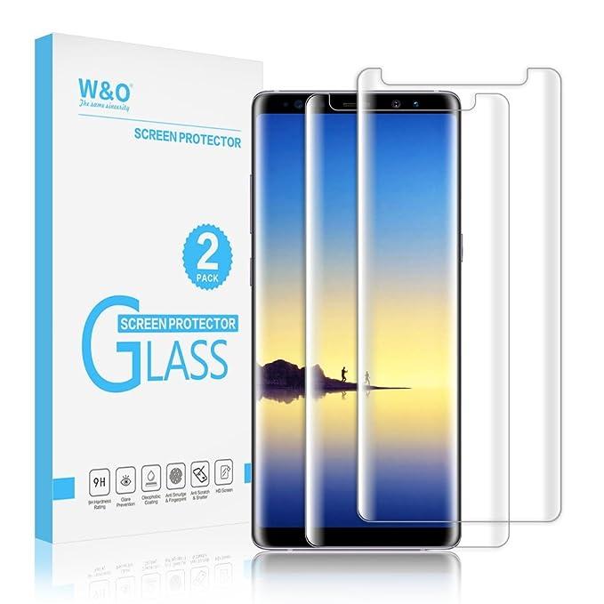 W&O [2-Pack] Protector de pantalla de vidrio Protector de pantalla ...