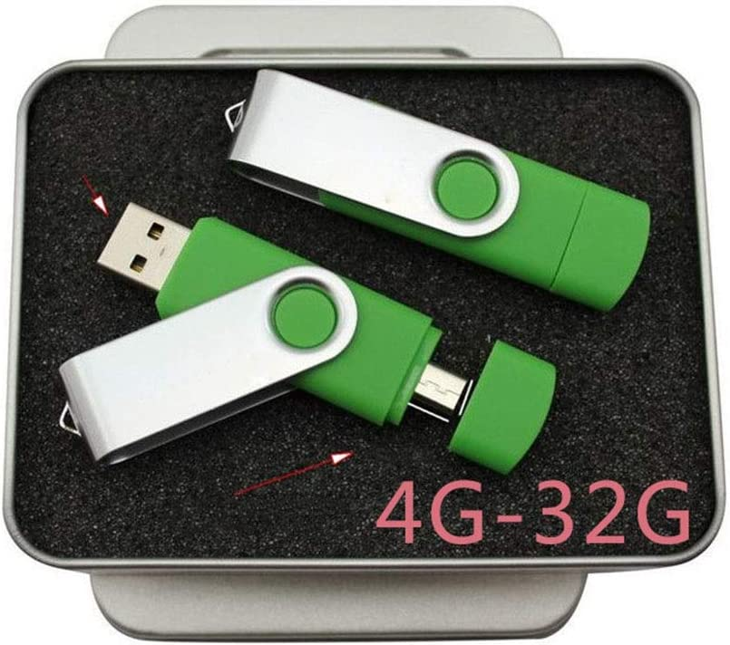 Color : Blue, Size : 16G Hexiaoyi Rotary Mobile Phone USB Mobile Phone Computer Dual-use USB Drive
