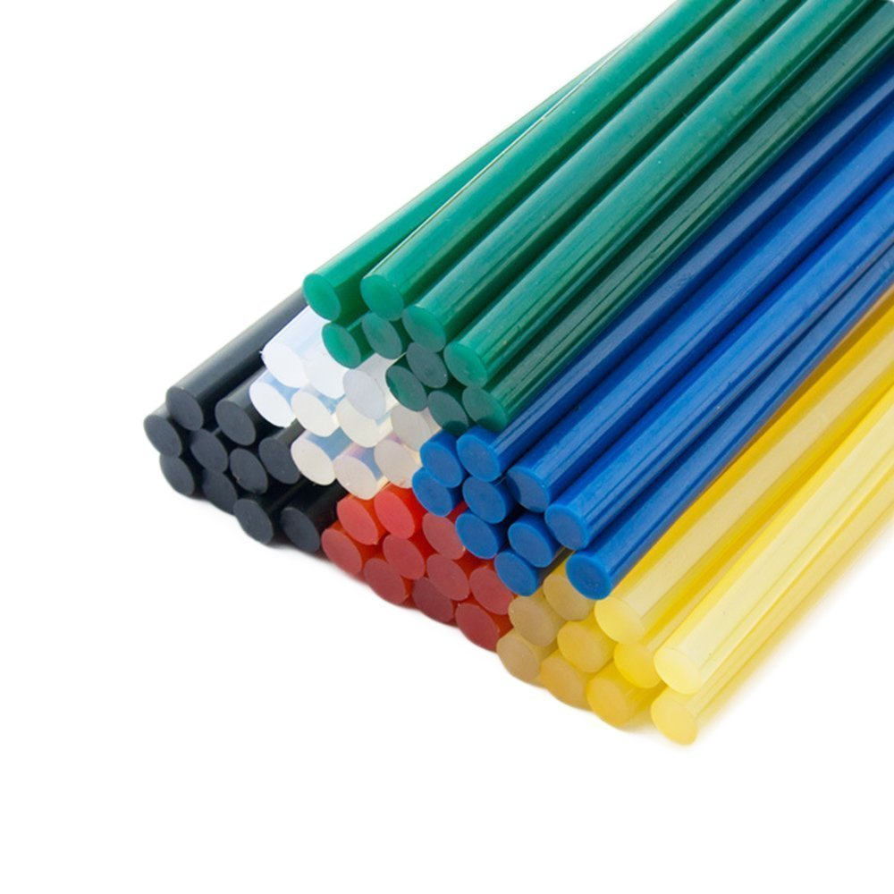 Multicolors Adhesives Hot Glue Gun Sticks for 20W Craft Melt Glue Guns, 5/16''D - 6 ''L, 60 Pcs per Pack