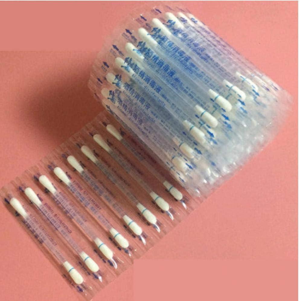 TOSSPER 10 St/ück Einweg-Medical Alkohol-Stick Desinfizierte Baumwolltupfer Emergency Care Sanit/är Frauen Make-up Wattest/äbchen TIPP f/ür medizinische