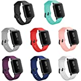 TECKMICO 8PCS Bands for Amazfit Bip Smartwatch,20mm Quick Release Watch Soft Silicone Bands for Amazfit Bip Band Women Men
