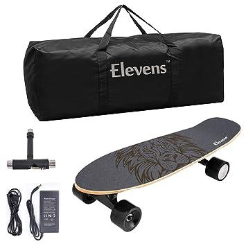 Amazon.com: Elevens - Monopatín eléctrico (10 mph, 10 millas ...