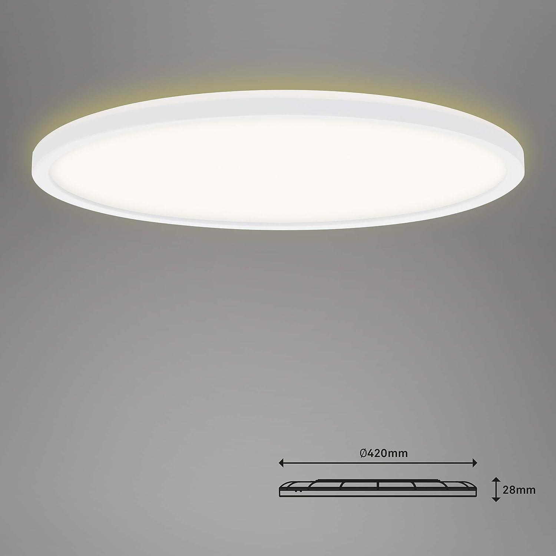 4.000 Kelvin Wei/ß inkl RGB Backlight Deckenlampe LED Panel Fernbedienung Deckenleuchte dimmbar 2.700 Lumen Briloner Leuchten Farbsteuerung 22 Watt /Ø 42cm