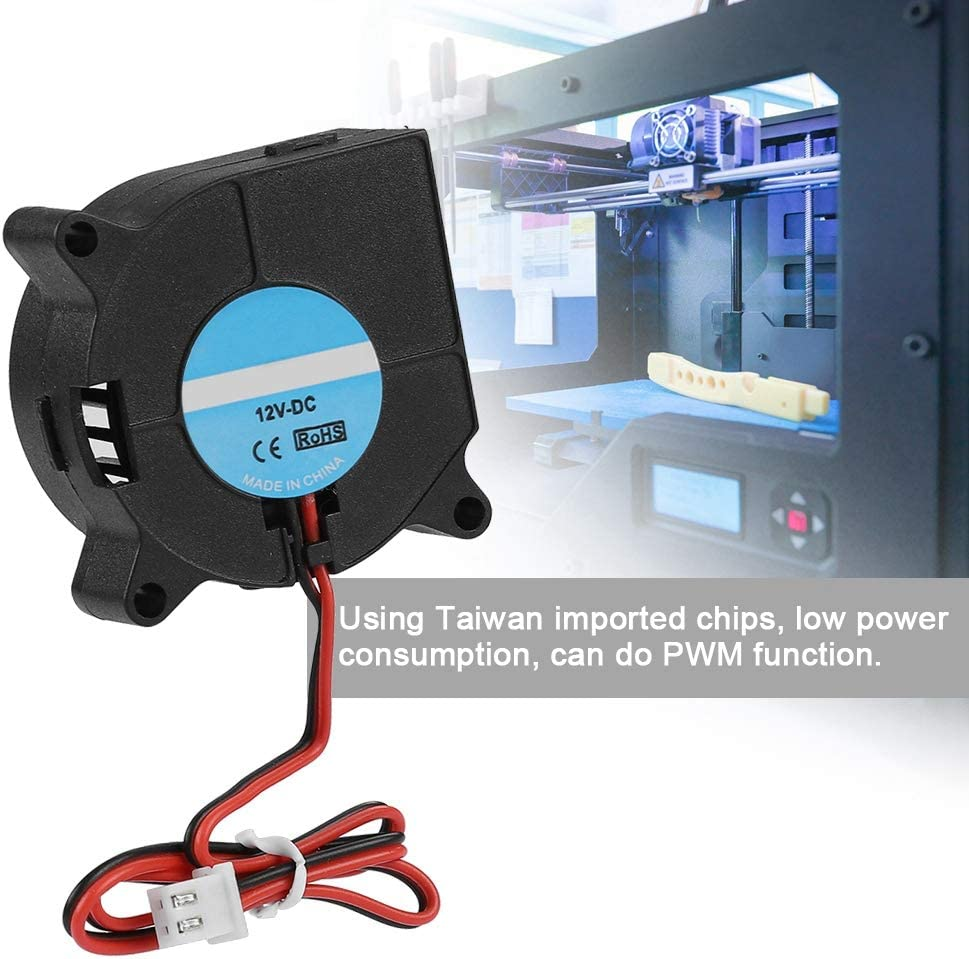 24V 20mm Durable Turbo Fan Incoming PBT Anti-plastic Blower Cooling Fan with Low Power Consumption for 3D Printer Accessories 40 Blower Cooling Fan,4020 DC 40