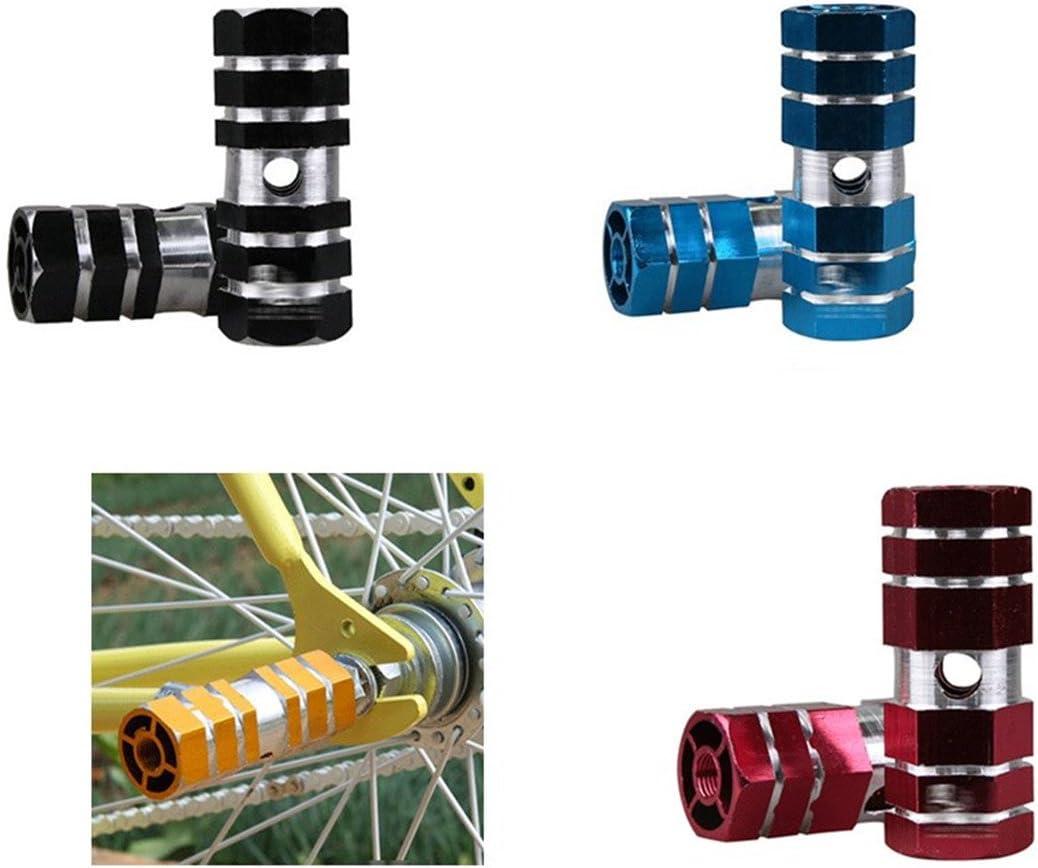 angju Pedales de Aluminio para Bicicleta BMX con Eje y Pinzas para el pie un par