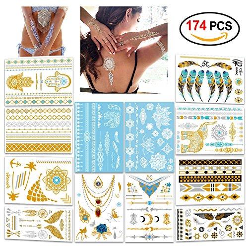 Metallic Flash Tattoos Konsait Designs