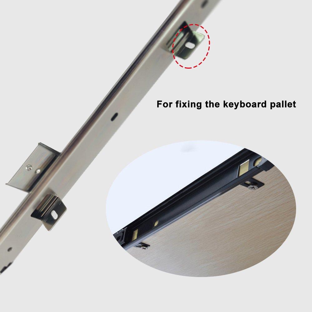 405 mm FRMSAET resistente 305//355//405//455 mm de espesor estructura de acero cojinete de bolas caj/ón del teclado bandeja deslizante bandeja gabinete muebles hardware riel
