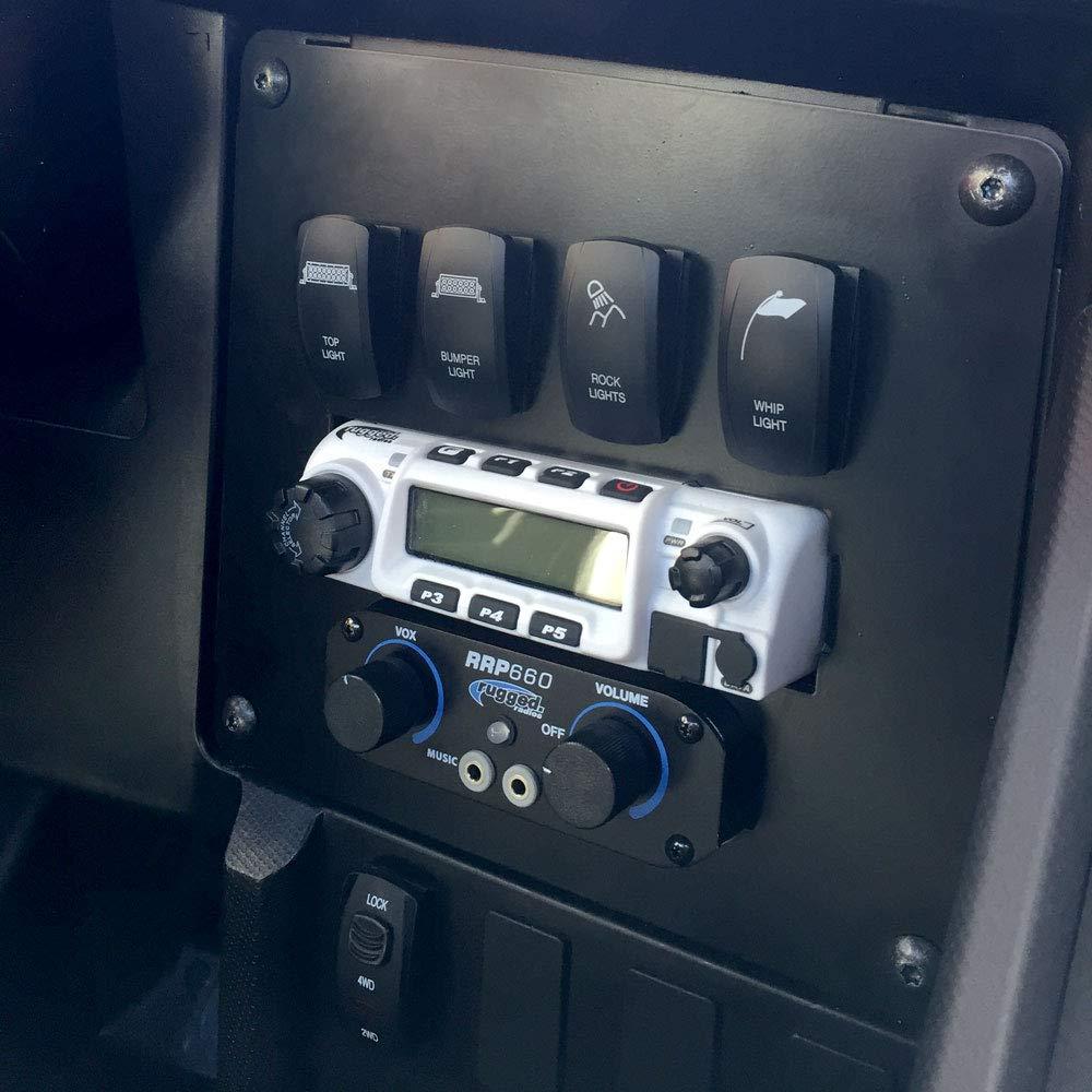 Rugged Radios MT-XX Mobile Radio /& Intercom Mount for Wildcat XX