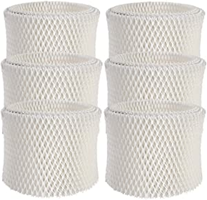 ITidyHome 6-Pack Humidifier Wicking Filters Replacement Compatible for Honeywell HAC-504 and HAC-504AW,HCM-350,HCM-300T, HCM-600, HCM-710, HCM-315T,Filter A