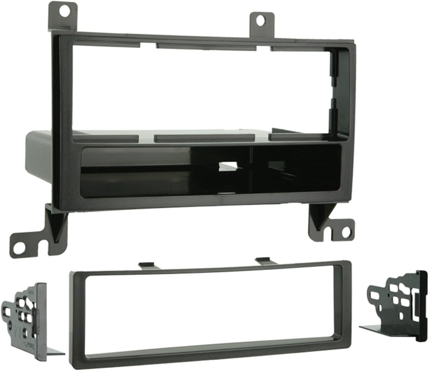 Metra 99-7325 Single DIN Installation Kit with Pocket for 2007 Hyundai Santa Fe (Black) (Discontinued by Manufacturer)