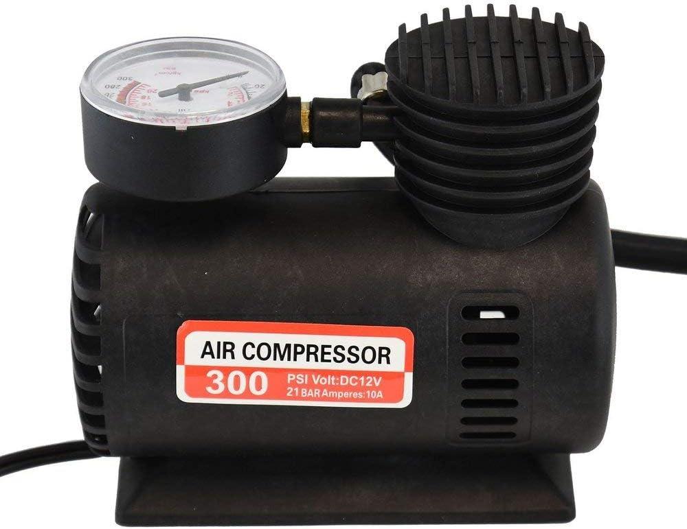 Zoozio/® 12v 300psi Compact Mini Air Compressor Bike Car Van Tyre Inflator