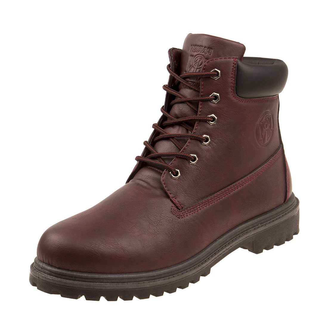PARISH NATION Mens Soft Toe Lace-up Work Boot, Burgundy, Size 10.5 D(M) US'