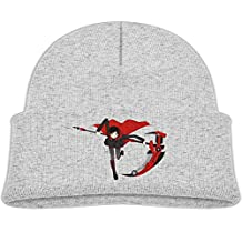 Kids Rwby Ruby Rose Boys Girls Knit Beanie Cap Skull Hat Warm One Size