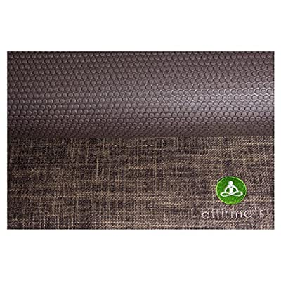 Affirmats Best Premium Designer Non Slip Non Toxic Phthalate Free Yoga Mat for Hot Yoga, Pilates, Bikram Yoga