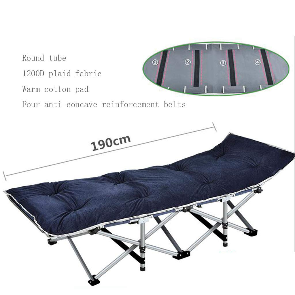 A14 Reinforced Folding Bed Office Folding Bed Single Bed Lunchtime Recliner Simple Accompanying Camping Bed Upgrade Without Noise (color   A11)