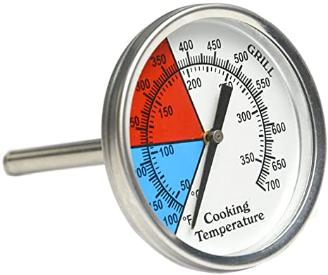 Onlyfire Oven Bbq Charcoal Smoker Gas Grill Thermometer 76mm Dial Amazon Co Uk Garden Outdoors