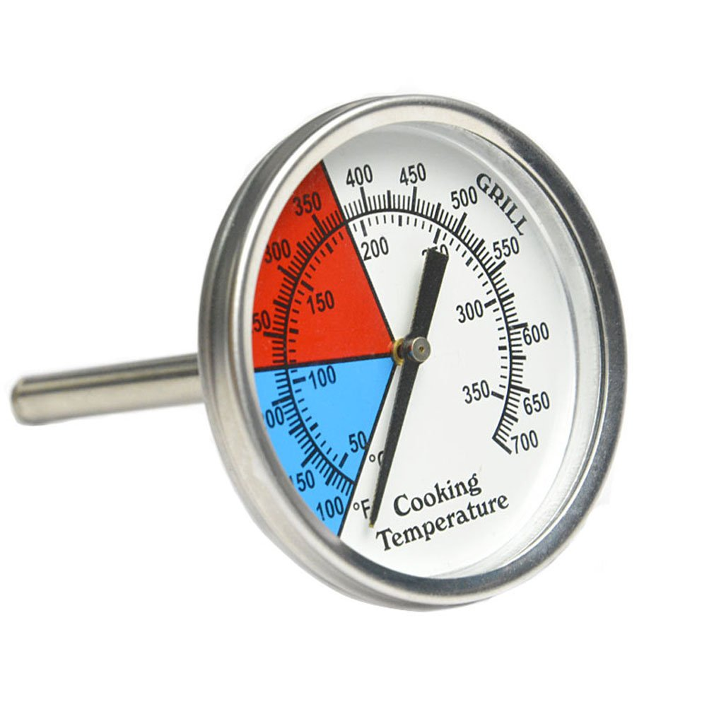 Onlyfire Professional BBQ Charcoal Smoker Gas Grill Dia 2 Thermometer Temperature Gauge