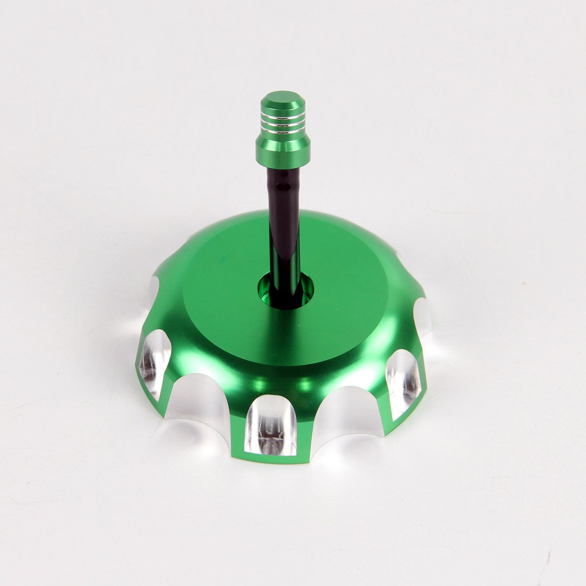Green Billet Gas Fuel Tank Cap Cover with Vent Hose for Kawasaki KX 250 250F 450F KLX450R KFX 450R
