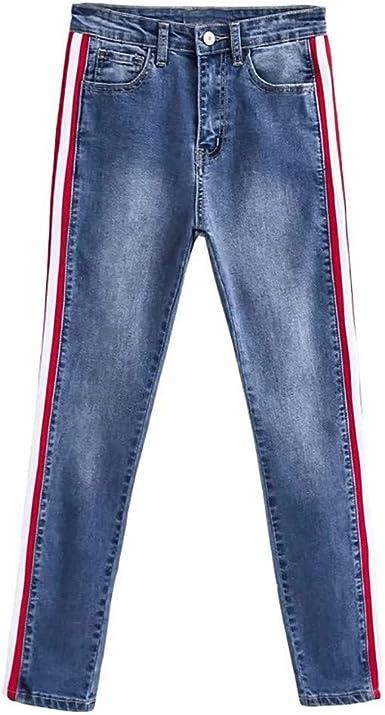 Vaqueros Mujer Elasticos Tallas Grandes Cintura Alta, Pantalones ...