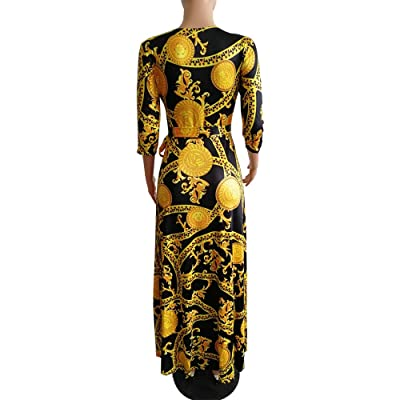 Women Printed Party Formal Prom Dresses Short Sleeve Baggy Long Maxi Dress US