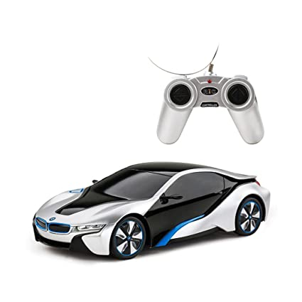 Amazon Com Rastar 1 24 Bmw I8 Radio Remote Control Car Rc Silver