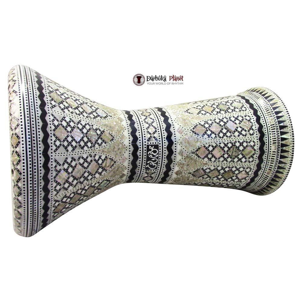 Gawharet El Fan 21'' Sultan Sombaty XL Mother of Pearl Darbuka Doumbek Drum by Gawharet El Fan