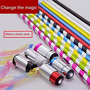 6 Pcs Silk Scarves Magic Trick Show Prop Flexible Wand Stick Magic Plastic Appearing Cane Funny Toy Children Kids Gift
