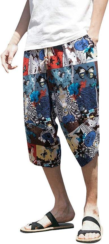 Pantalones Hombre Verano Casual Moda Tallas Grandes Algodón ...