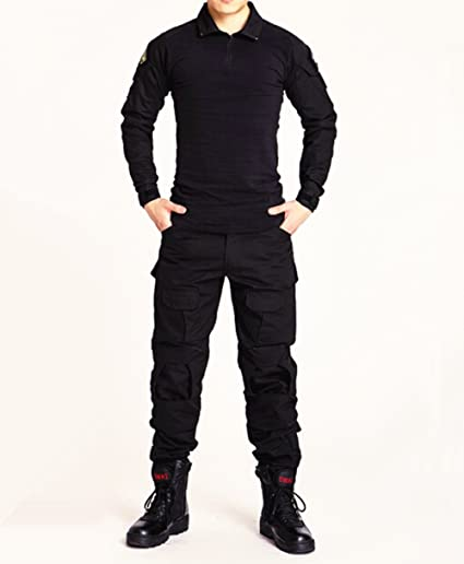 90aa68bf0e8d1 New Series Commando Black Frog Suits Camouflage Pants Tactical Pants Jungle  Camouflage Army Uniform (S