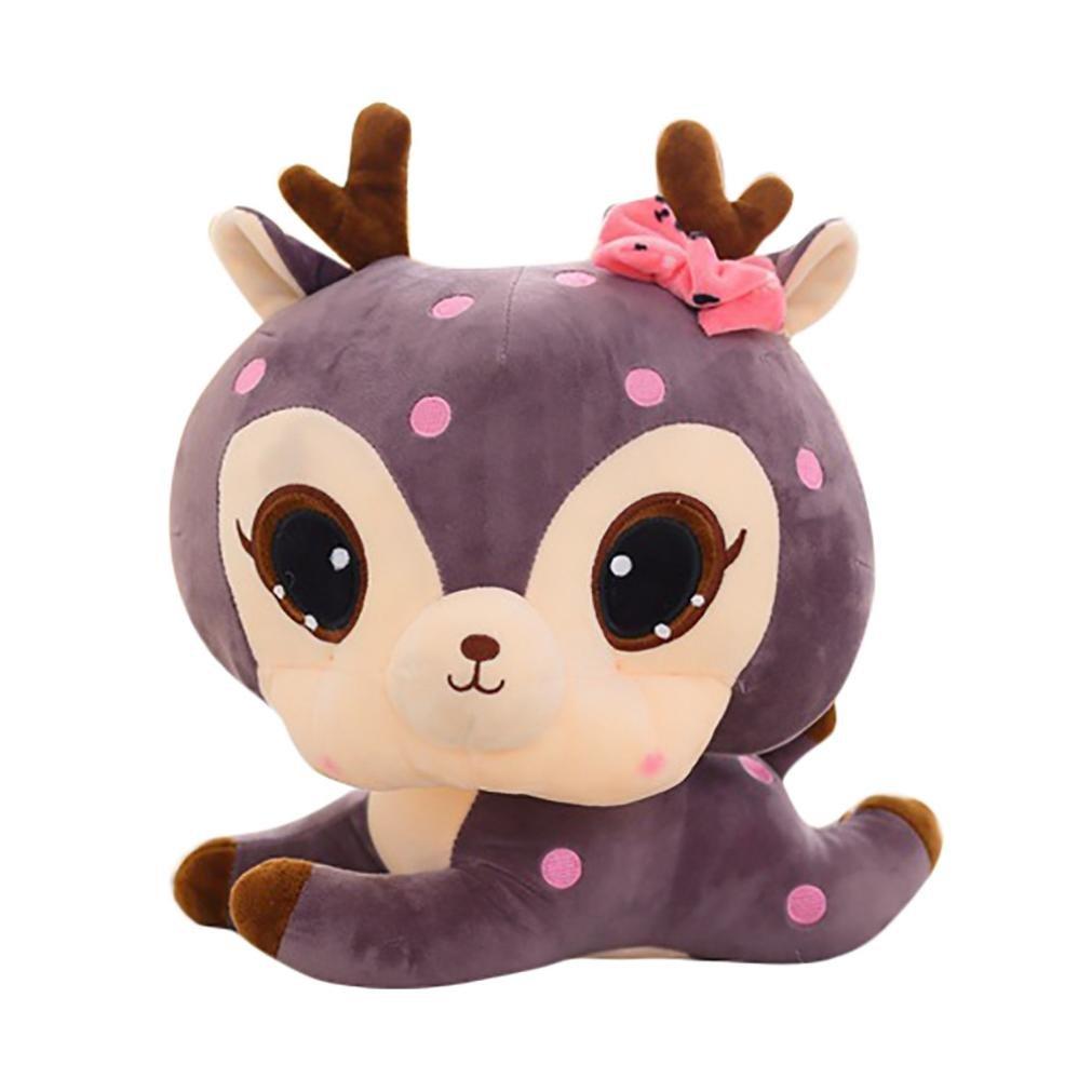 gbell大人子供キッズふわふわStuffed PlushシミュレーションCute Deerおもちゃ30 cm Deerおもちゃ30 B07CRFGR6J cm パープル B07CRFGR6J パープル, シブヤク:d7143fbb --- webshop.mrf.se