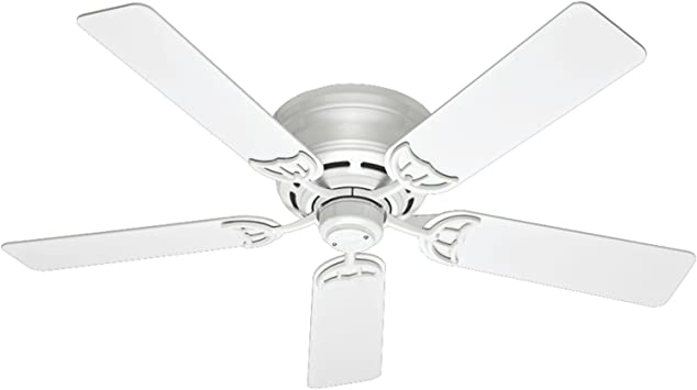 Hunter 53069 Traditional 52 Ceiling Fan From Low Profile Iii Collection In White Finish Ceiling Fans Amazon Canada