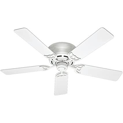 Hunter 53069 Low Profile Iii 52 Inch Ceiling Fan With Five White