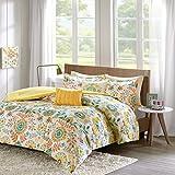 Intelligent Design Nina Comforter Set Full/Queen Size - Orange, Medallion – 5 Piece Bed Sets – Ultra Soft Microfiber Teen Bedding for Girls Bedroom